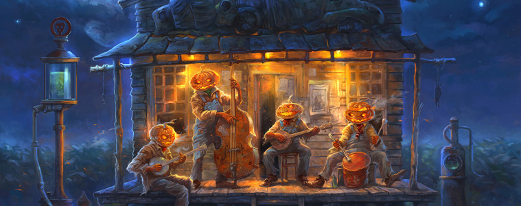 A personal piece titled Halloween Blues