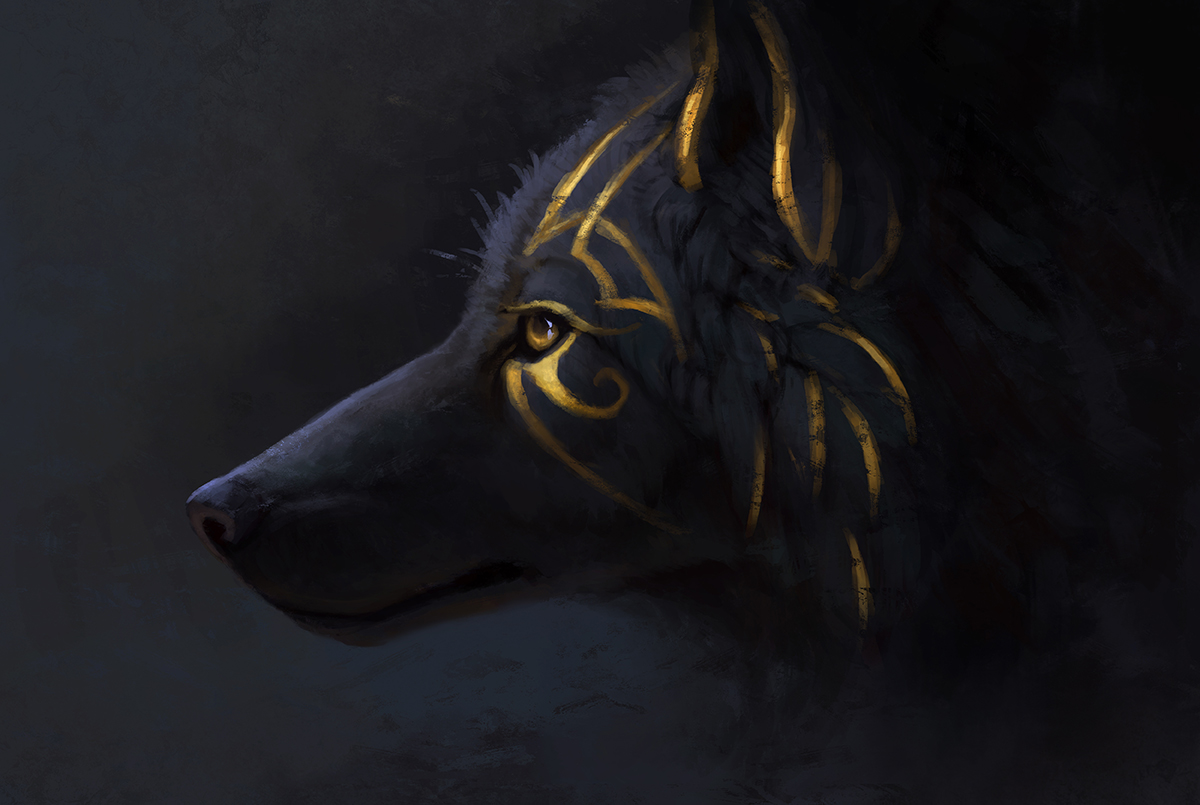 'Enthrall', one of Jade's canine sketches