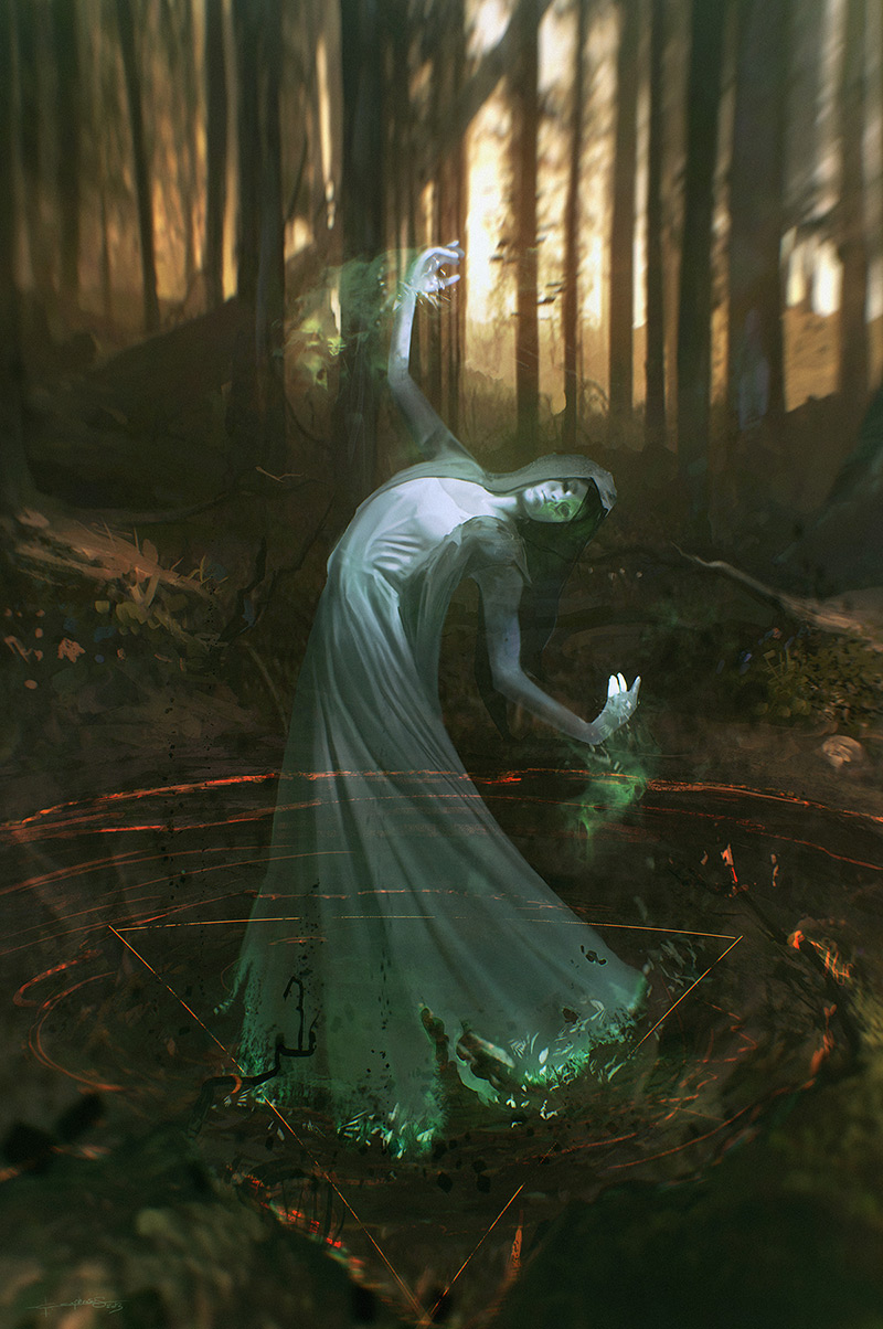 Geoffrey created 'Ghastly Dance' as a character experiment with the intent of creating something eerie © Geoffrey Ernault