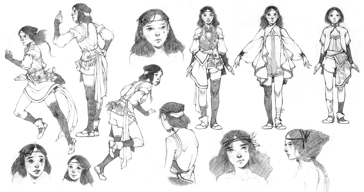 This is a character sheet of an original design © Tran Nguyen