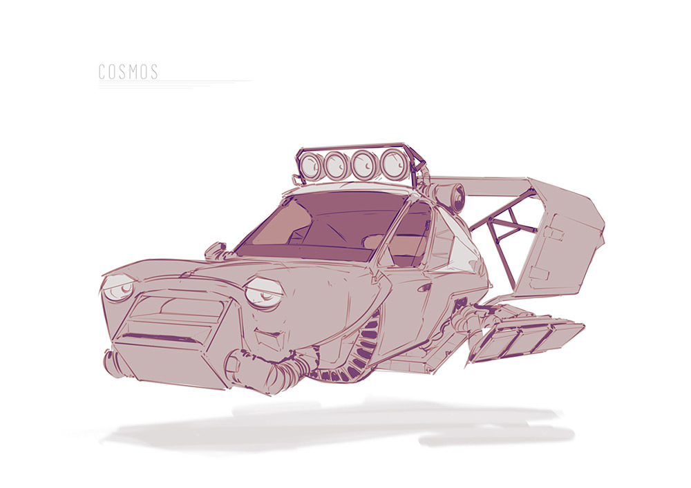 'Cooper Racer' for the 'Cosmos' personal project ©Ned Rogers