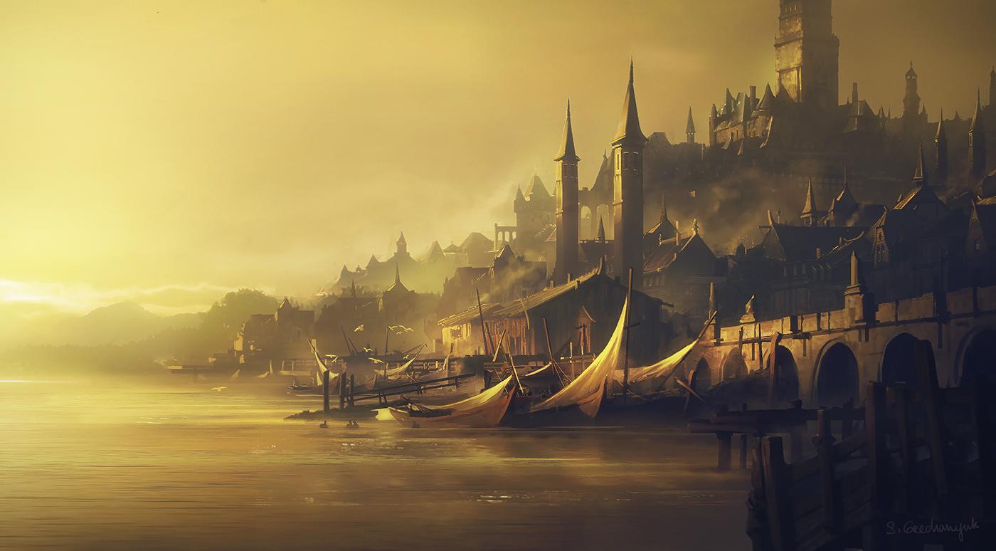 Bay, sunrise by Sergey Grechanyuk © Sergey Grechanyuk