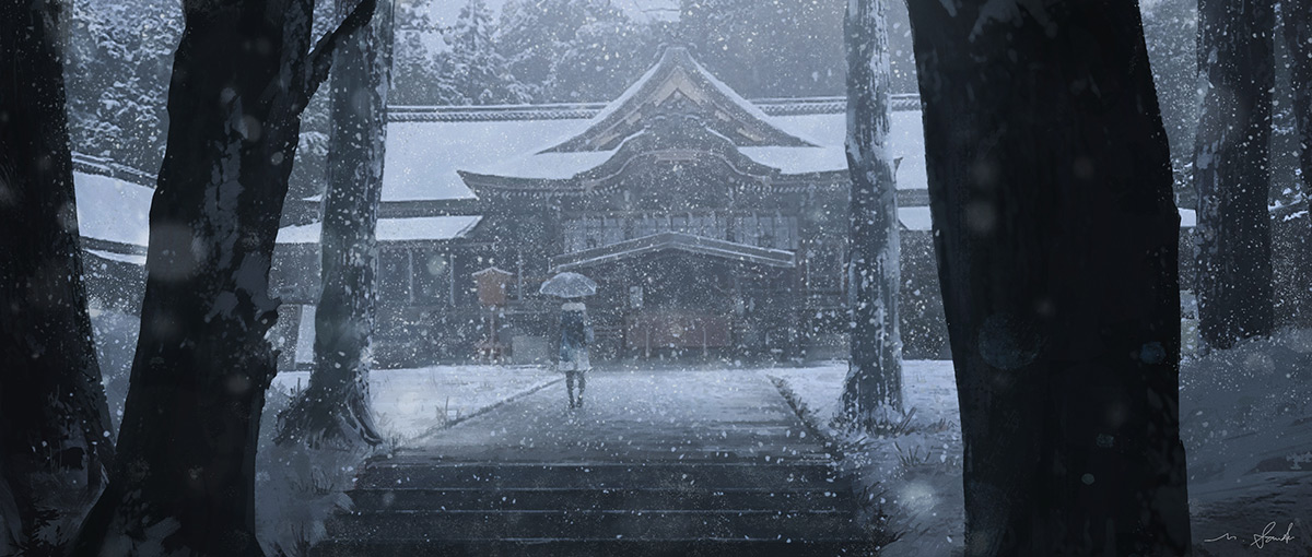 """Snow shrine"" by Masahiro Sawada Copyright: © Masahiro Sawada"