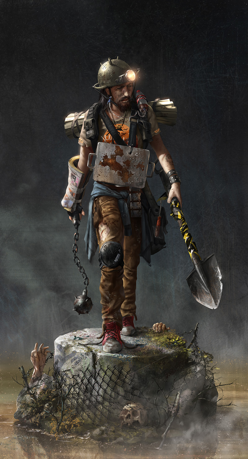 Recently, some friends and I have been doing challenges between us with a picked topic. This was my entry and it's supposed to be a zombie hunter ©Alex Negrea